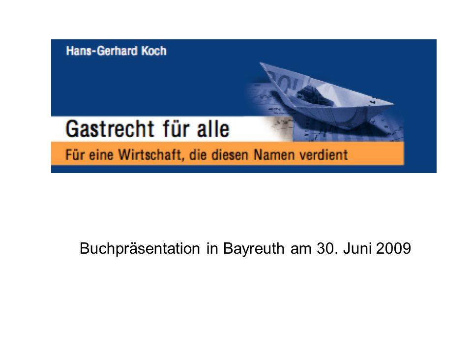 Buchpräsentation in Bayreuth am 30. Juni 2009