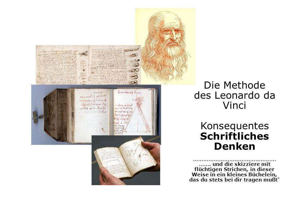 Die Methode des Leonardo da Vinci Konsequentes Schriftliches Denken ………………………………………… …….