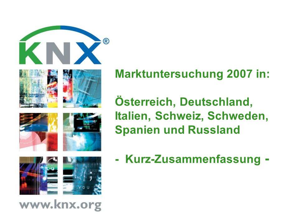 Marktuntersuchung 2007 in: Österreich, Deutschland, Italien, Schweiz, Schweden, Spanien und Russland - Kurz-Zusammenfassung -