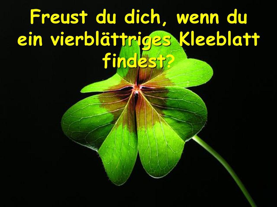 Freust du dich, wenn du ein vierblättriges Kleeblatt findest Freust du dich, wenn du ein vierblättriges Kleeblatt findest ?