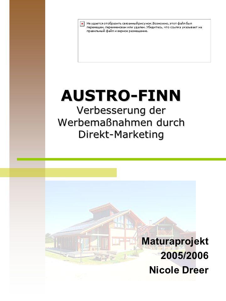 AUSTRO-FINN Verbesserung der Werbemaßnahmen durch Direkt-Marketing Maturaprojekt 2005/2006 Nicole Dreer
