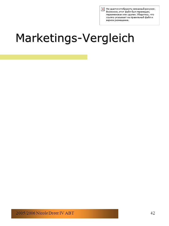 2005/2006 Nicole Dreer IV ABT42 Marketings-Vergleich