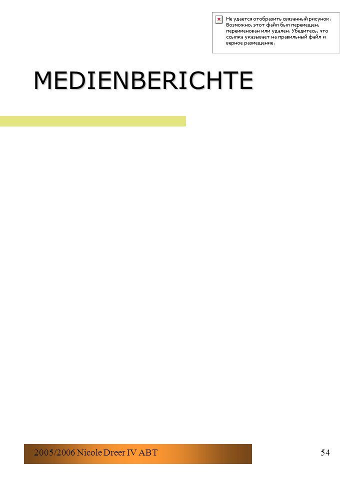 2005/2006 Nicole Dreer IV ABT54 MEDIENBERICHTE