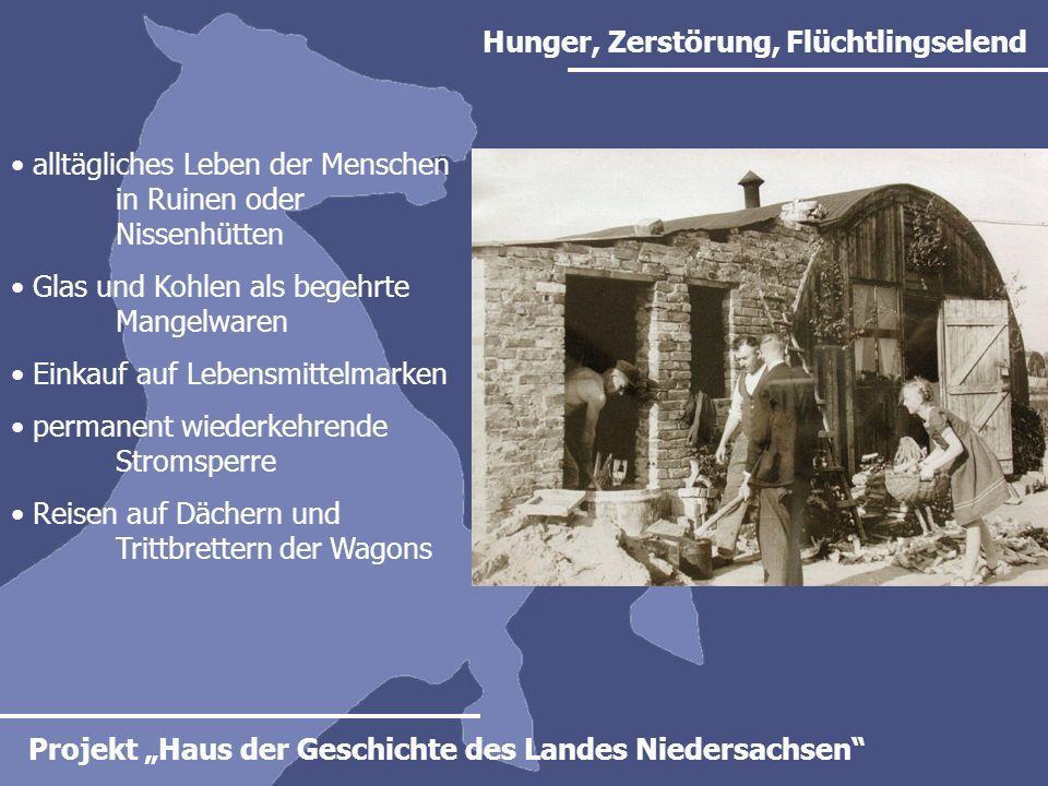 Projekt Haus der Geschichte des Landes Niedersachsen Kirchen in Niedersachsen Die Landeskirchen von Hannover, Oldenburg, Braunschweig und Schaumburg-Lippe prägen das evangelische Niedersachsen.