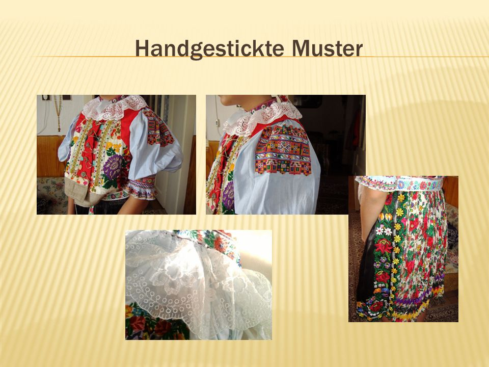 Handgestickte Muster