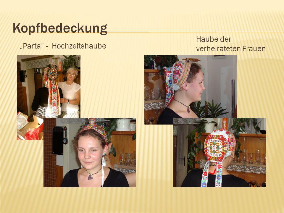 Kopfbedeckung Parta - Hochzeitshaube Haube der verheirateten Frauen