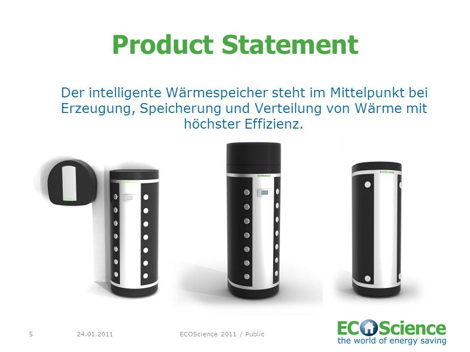 24.01.2011ECOScience 2011 / Public5 Product Statement Der intelligente Wärmespeicher steht im Mittelpunkt bei Erzeugung, Speicherung und Verteilung vo