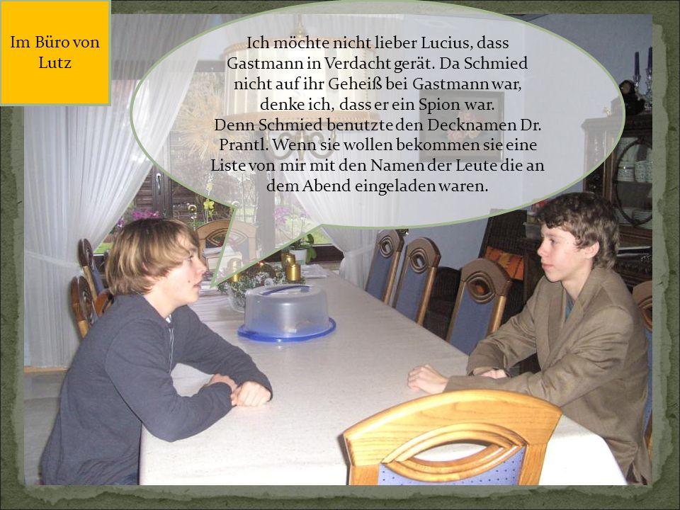Später im Haus von Bärlach, wo Tschanz zum Essen eingeladen war.