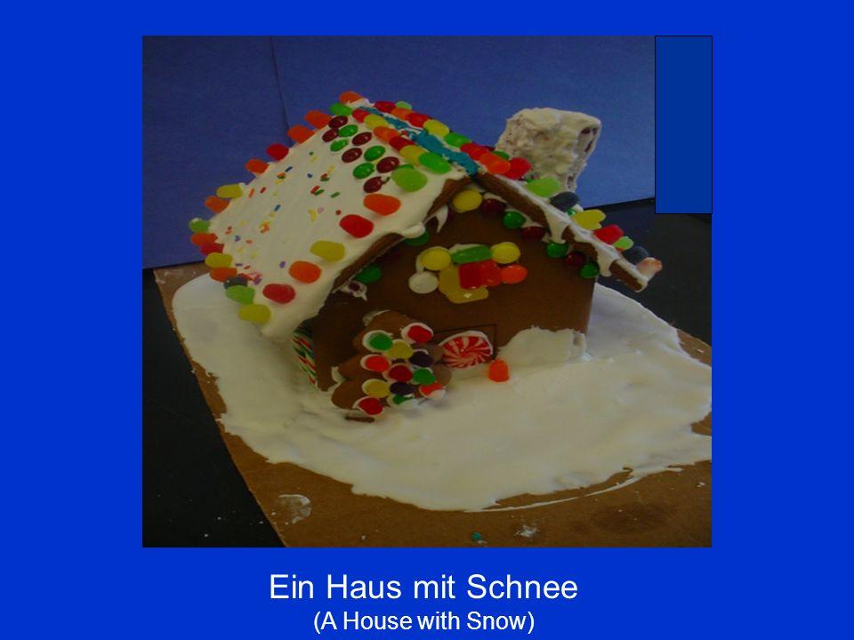 Ein Haus mit Schnee (A House with Snow)