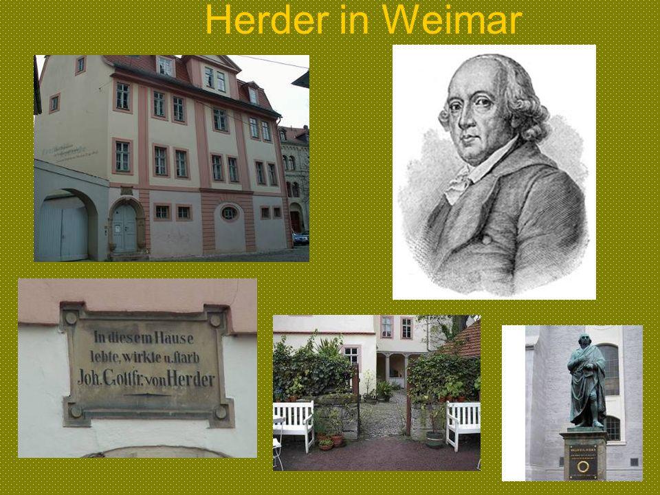 Herder in Weimar
