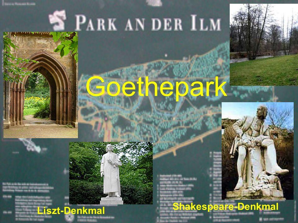 Goethepark Liszt-Denkmal Shakespeare-Denkmal