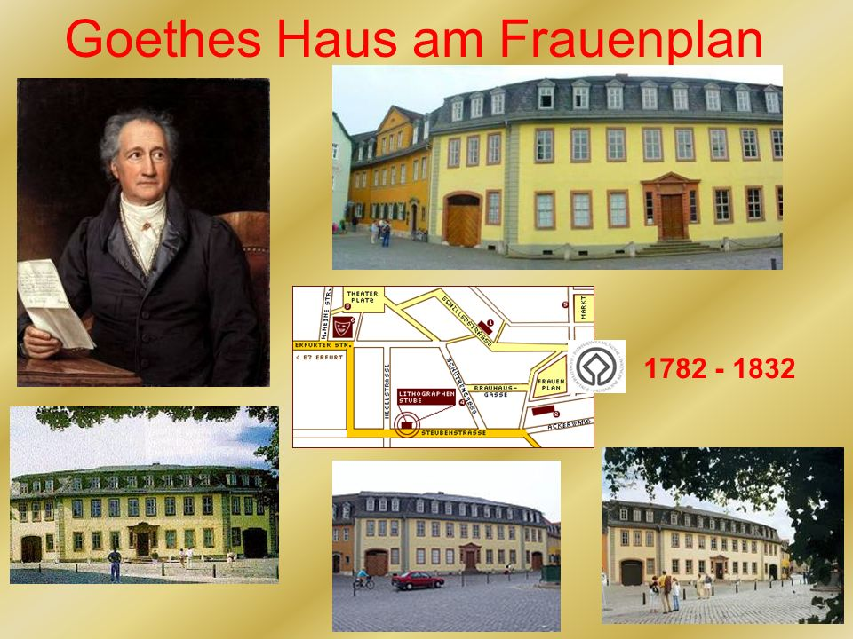 Goethes Haus am Frauenplan 1782 - 1832