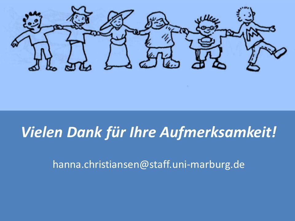 Vielen Dank für Ihre Aufmerksamkeit! hanna.christiansen@staff.uni-marburg.de