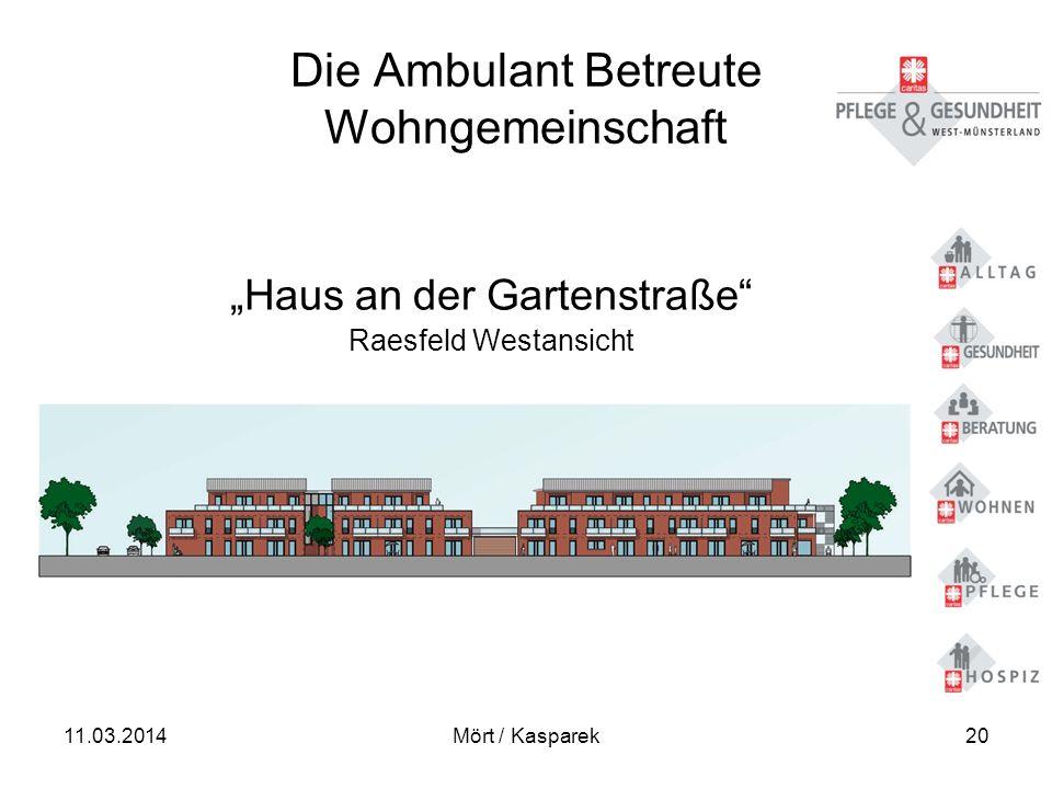 11.03.2014Mört / Kasparek20 Die Ambulant Betreute Wohngemeinschaft Haus an der Gartenstraße Raesfeld Westansicht