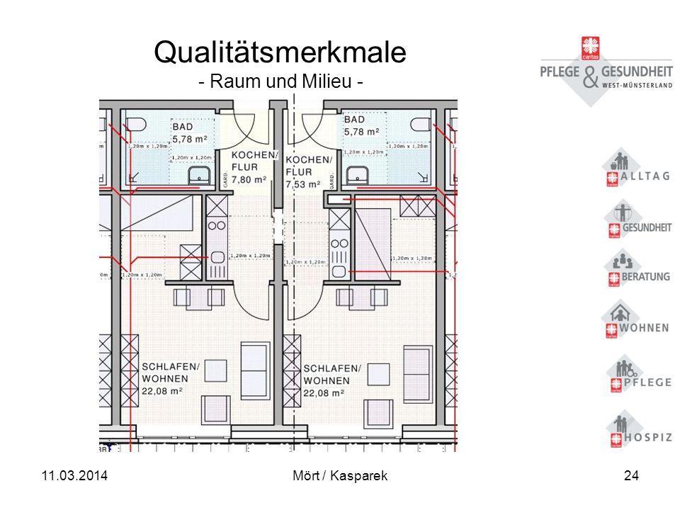 11.03.2014Mört / Kasparek24 Qualitätsmerkmale - Raum und Milieu -