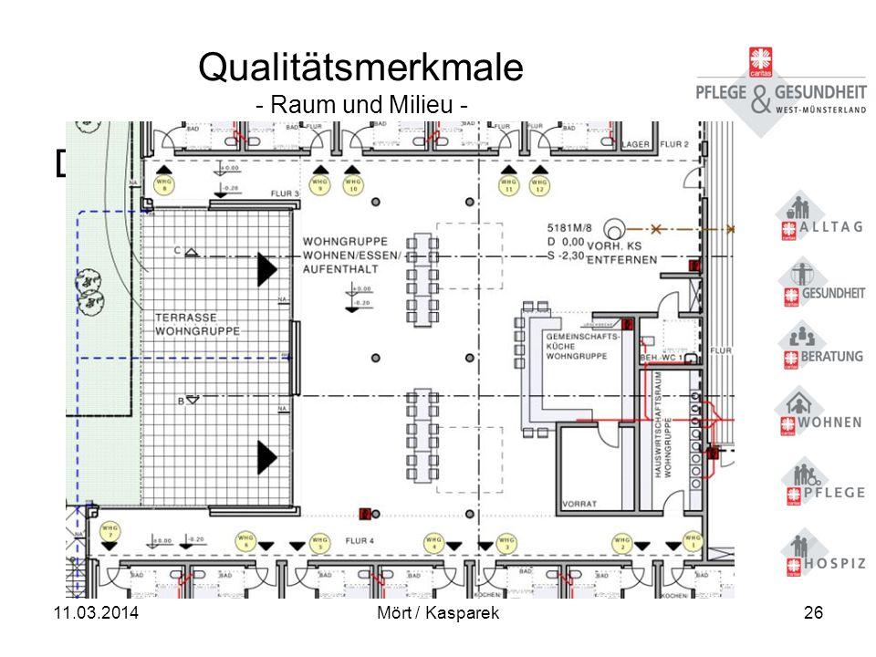 11.03.2014Mört / Kasparek26 Qualitätsmerkmale - Raum und Milieu - Der Gemeinschaftsbereich