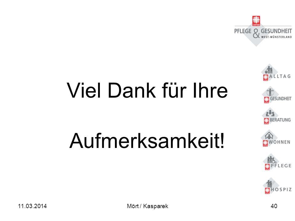 11.03.2014Mört / Kasparek40 Viel Dank für Ihre Aufmerksamkeit!