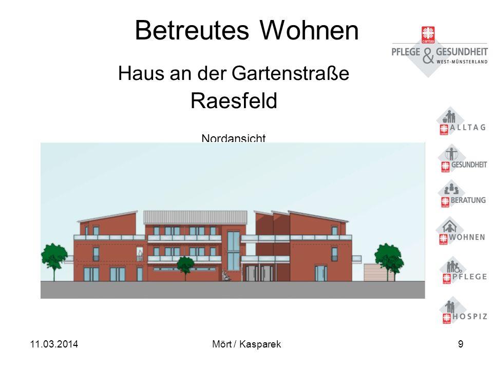 11.03.2014Mört / Kasparek9 Betreutes Wohnen Haus an der Gartenstraße Raesfeld Nordansicht