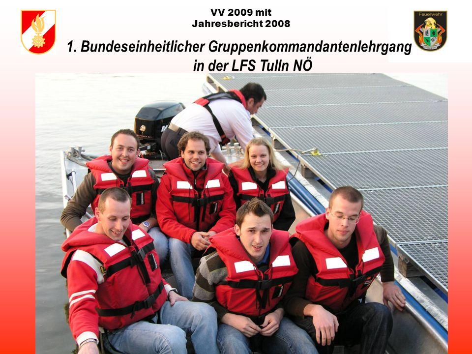 VV 2009 mit Jahresbericht 2008 Laufende Transferzahlungen der Gemeinde Ottnang a.H. für die FF Ottnang in tausend EURO