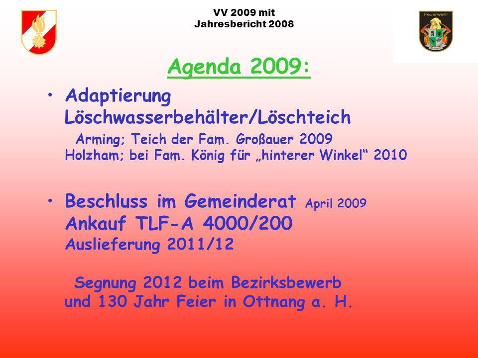 VV 2009 mit Jahresbericht 2008 1. Bundeseinheitlicher Gruppenkommandantenlehrgang