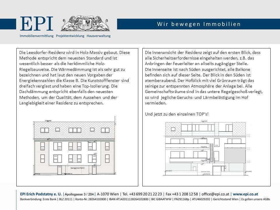Die Innenansicht der Residenz zeigt auf den ersten Blick, dass alle Sicherheitserfordernisse eingehalten werden, z.B. das Anbringen der Feuerleiter an