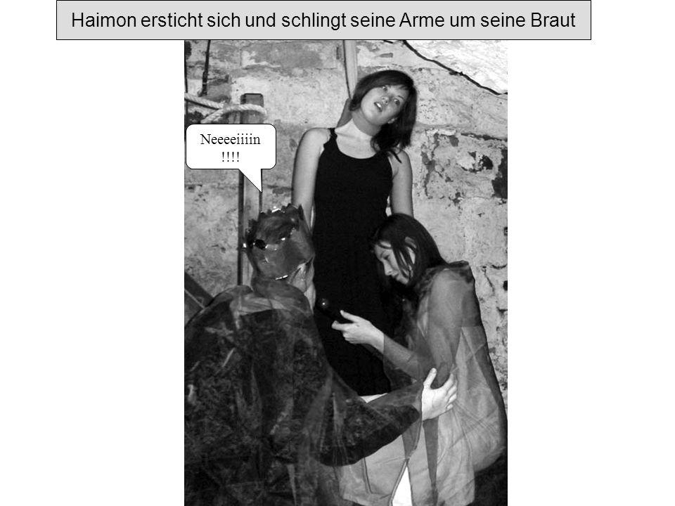 Kreon und der Bote wollen Antigone aus dem Felsengrab befreien, doch... Du Armer, was hast du getan? Was kam dich an? Hat dich das Unglück ganz verstö