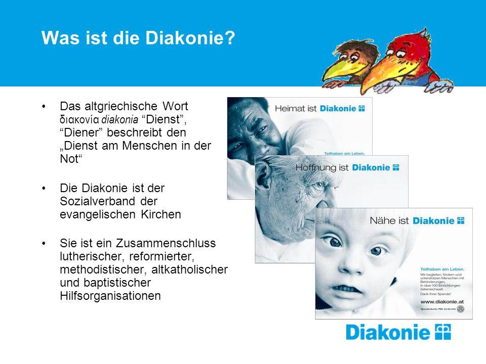 Was ist die Diakonie? Das altgriechische Wort διακονία diakonia Dienst, Diener beschreibt den Dienst am Menschen in der Not Die Diakonie ist der Sozia