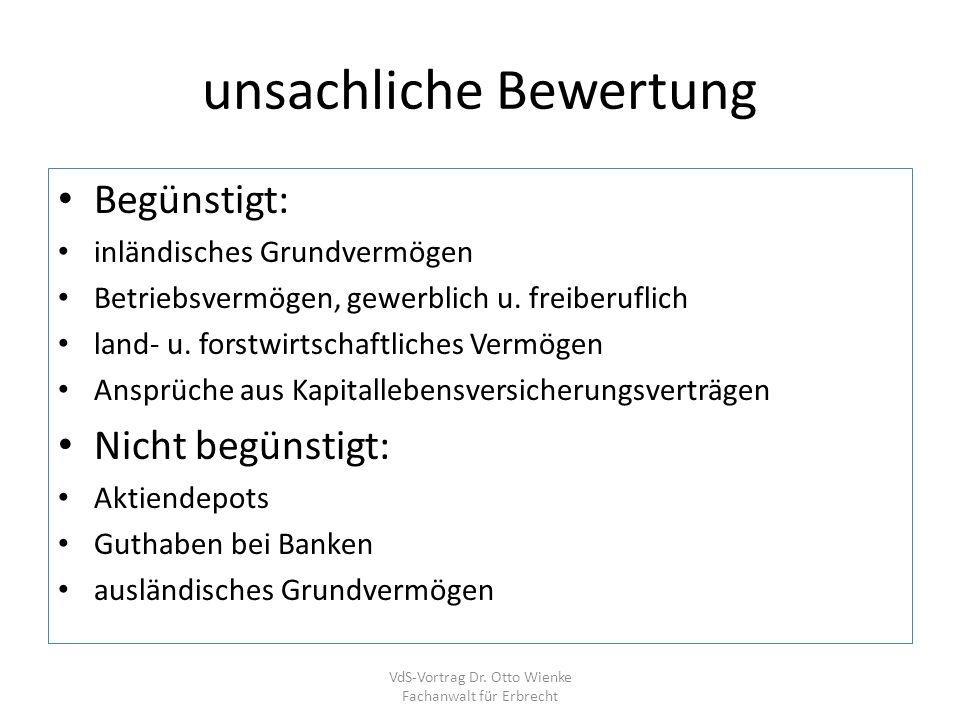 Alles was Recht ist VdS-Vortrag Dr. Otto Wienke Fachanwalt für Erbrecht