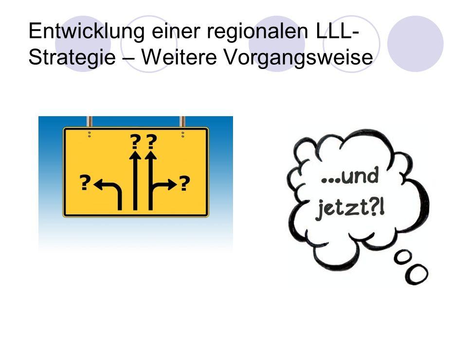 Entwicklung einer regionalen LLL- Strategie – Weitere Vorgangsweise