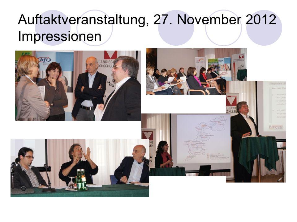 Auftaktveranstaltung, 27. November 2012 Impressionen