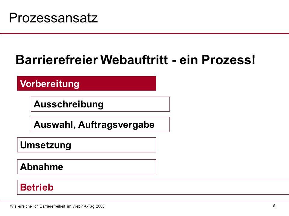 Wie erreiche ich Barrierefreiheit im Web.