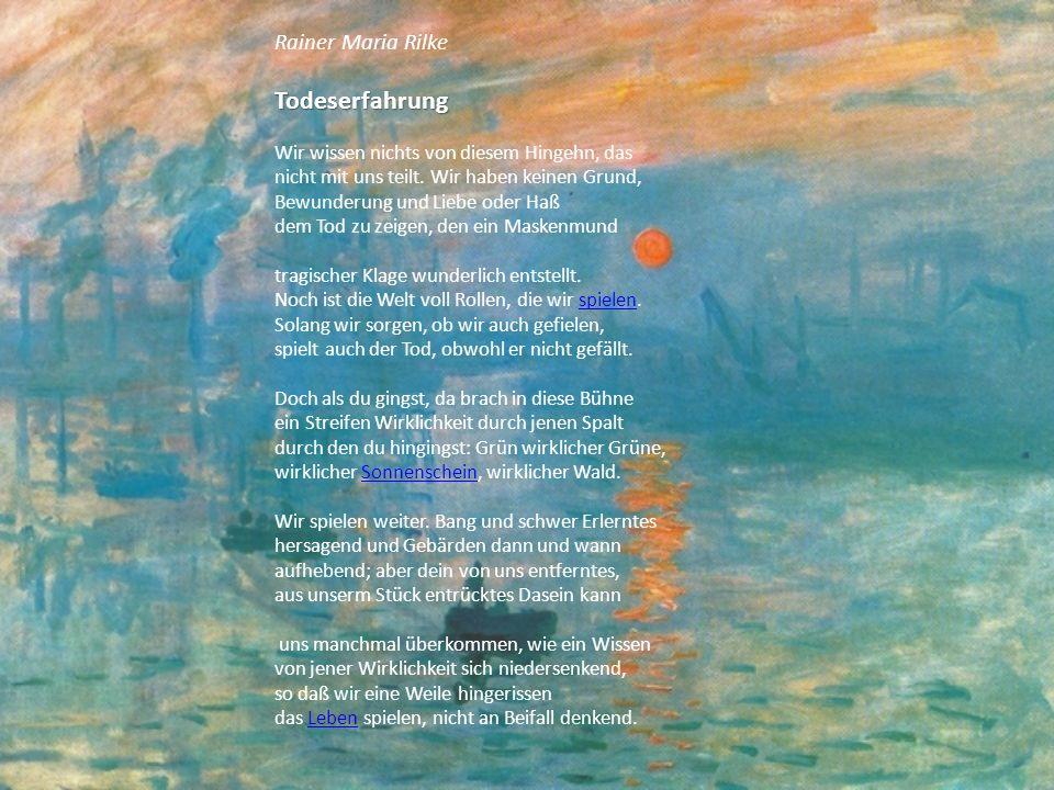 Rainer Maria Rilke Wie meine Träume nach dir schrein...