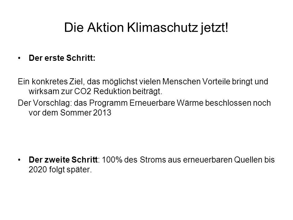 Die Aktion Klimaschutz jetzt.