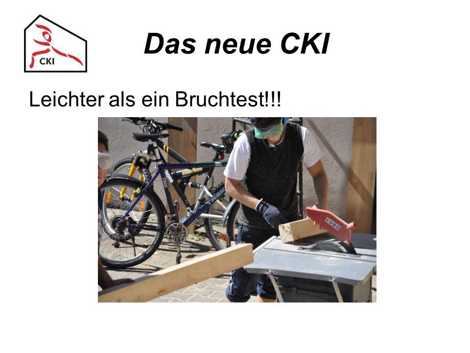 Das neue CKI Leichter als ein Bruchtest!!!