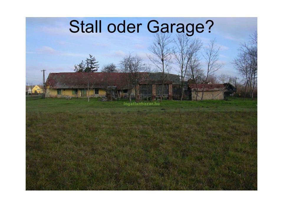 Stall oder Garage?