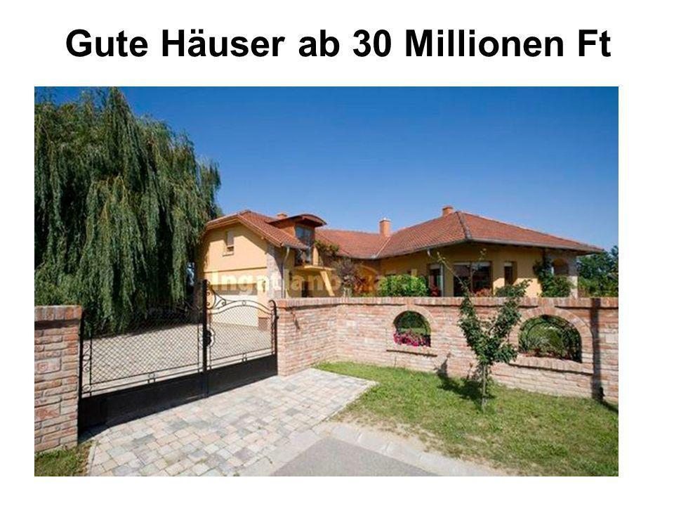 Gute Häuser ab 30 Millionen Ft