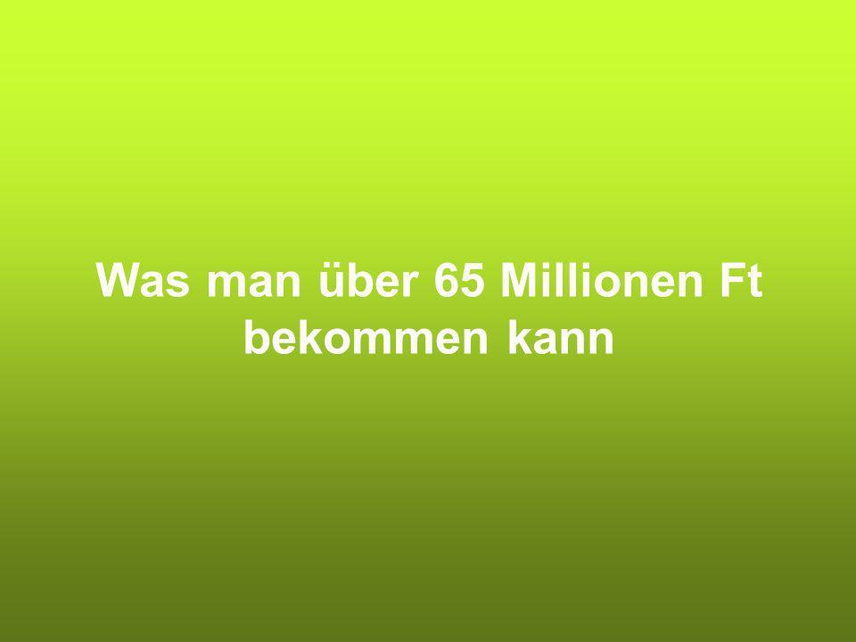 Was man über 65 Millionen Ft bekommen kann
