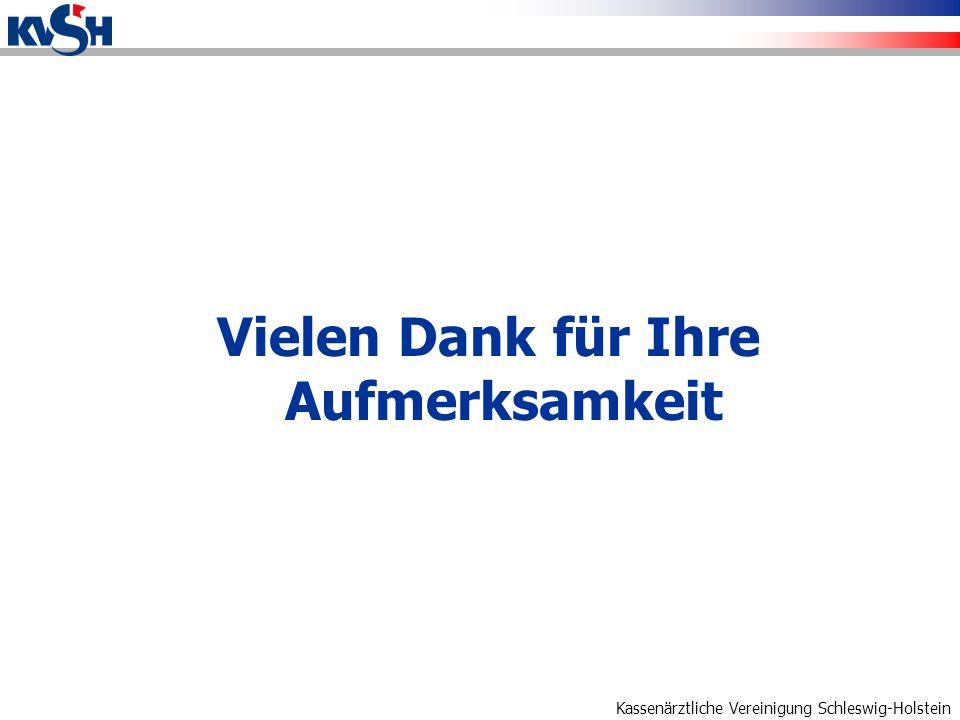 Kassenärztliche Vereinigung Schleswig-Holstein Vielen Dank für Ihre Aufmerksamkeit