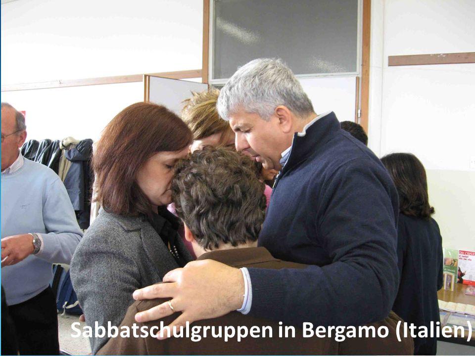 Sabbatschulgruppen in Bergamo (Italien)