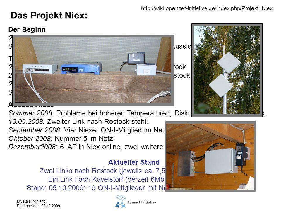 Dr. Ralf Pöhland Prisannewitz, 05.10.2009 Der Beginn 28.02.2008: Erster Emailkontakt 03.03.2008: Darstellung der Idee und Beginn der Diskussion Das Pr