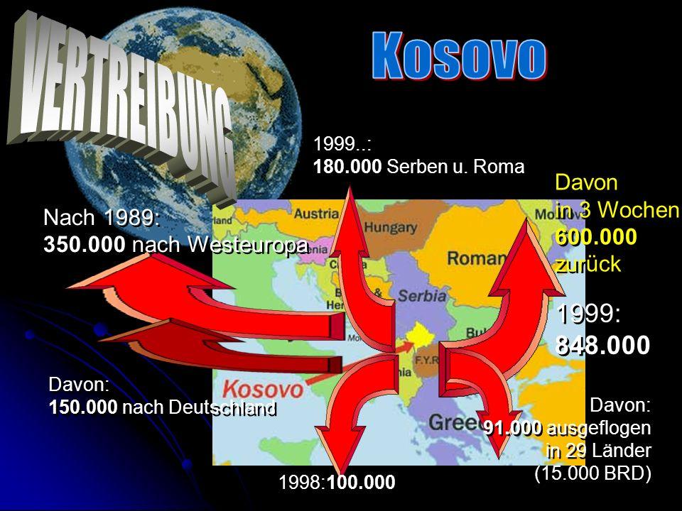 Ein internationaler Vertrag führte im Juni zum Ende des Bombenkrieges und zum Rückzug der serbischen Einheiten aus dem Kosovo. Friedenstruppen der NAT