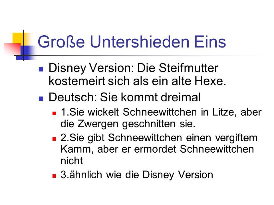 Große Untershieden Eins Disney Version: Die Steifmutter kostemeirt sich als ein alte Hexe.