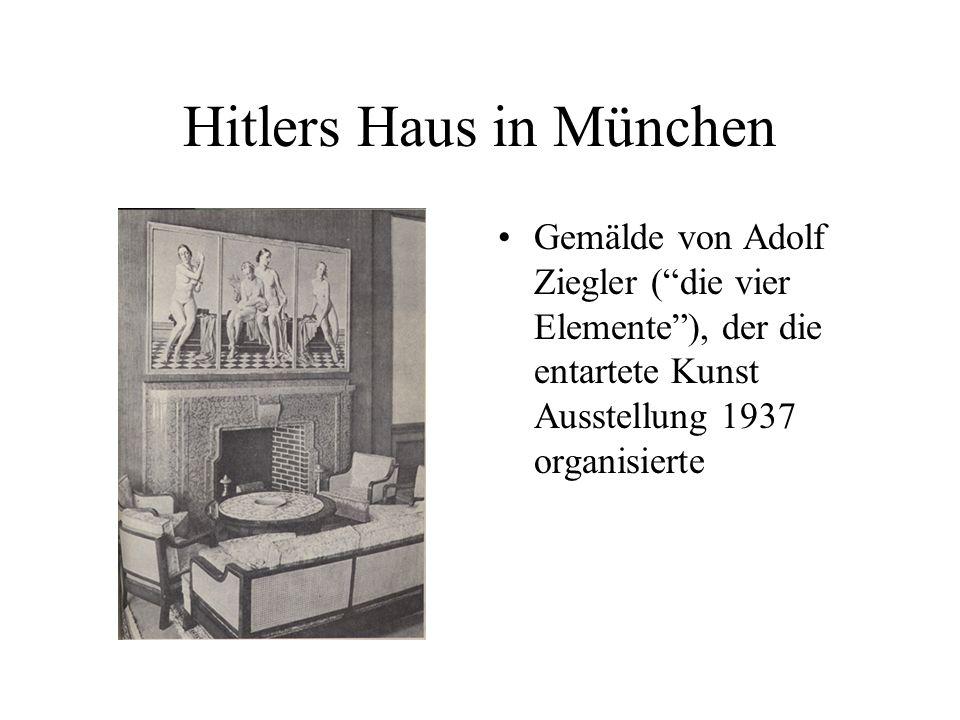 Gemälde von Adolf Ziegler (die vier Elemente), der die entartete Kunst Ausstellung 1937 organisierte