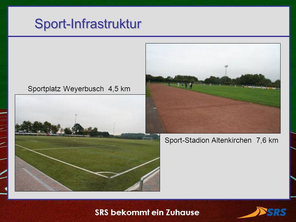 SRS bekommt ein Zuhause Sport-Infrastruktur Sportplatz Weyerbusch 4,5 km Sport-Stadion Altenkirchen 7,6 km