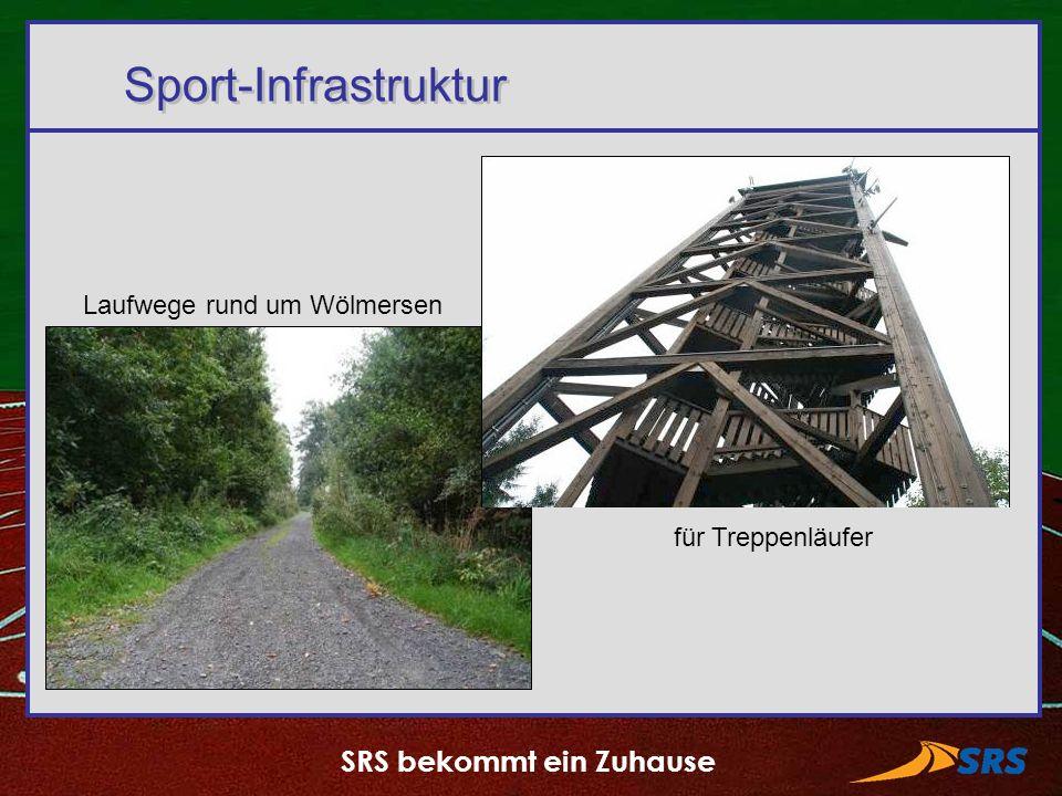 SRS bekommt ein Zuhause Sport-Infrastruktur Laufwege rund um Wölmersen für Treppenläufer