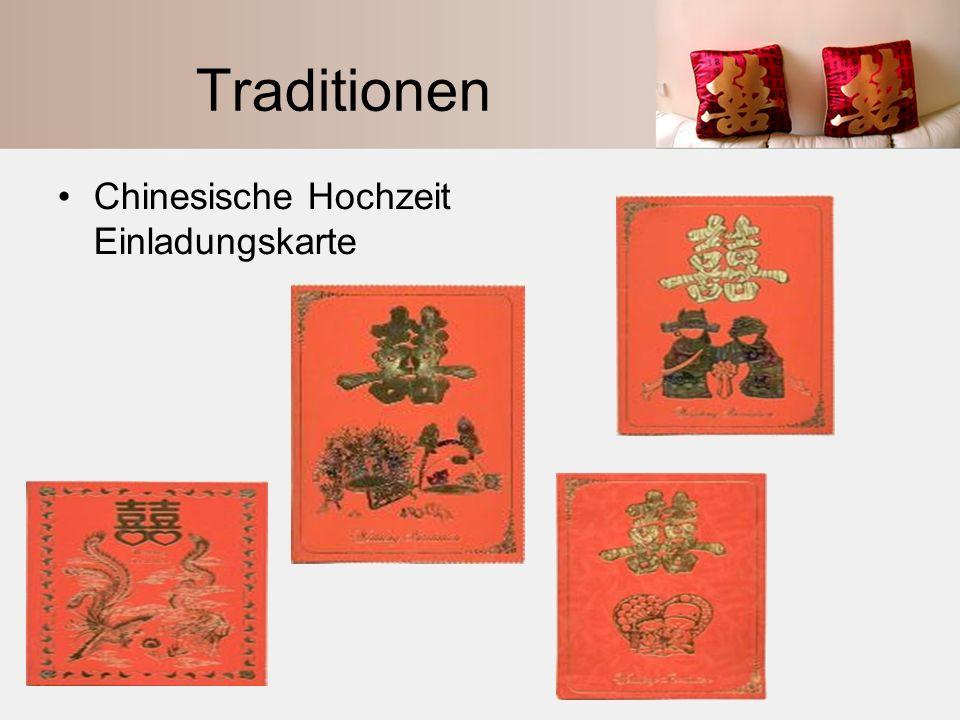 Traditionen Chinesische Hochzeit Einladungskarte