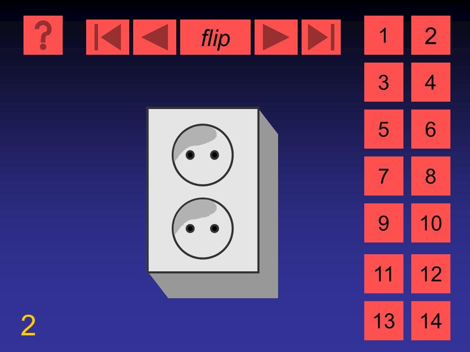 flip 2 1 3 2 4 5 7 6 8 910 1112 1314