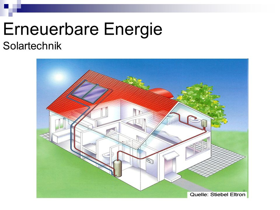 Solartechnik Da die Energie der Sonne unbeschränkt zur Verfügung steht, ist die Solarenergie eine wichtige Energiequelle für unsere Zukunft Erhebliche Kostenersparnisse, obwohl die Anschaffung relativ teuer ist Auch wird der Energieverlust reduziert