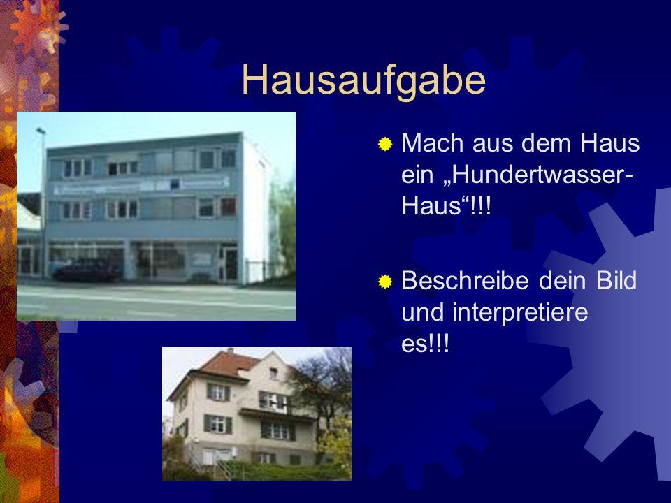 Blutende Häuser GRUPPE 4 Hässlichkeit, die optische Umweltverschmutzung, ist das gefährlichste Umweltgift, weil sie die Seele des Menschen zerstört. G