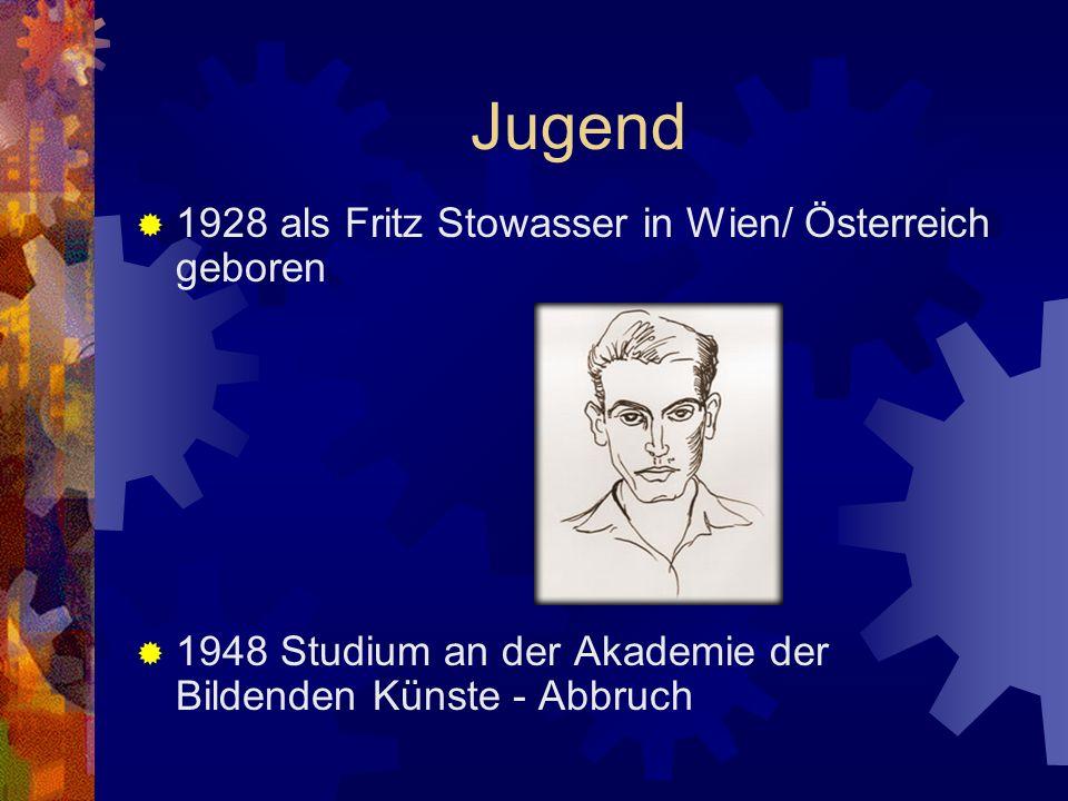 Friedensreich Hundertwasser Sein Leben Bauwerke in Österreich Gemälde Seine Ideologie